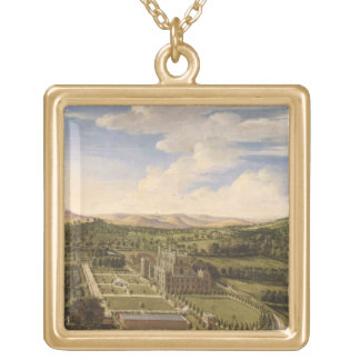 Wollaton Hall and Park, Nottingham, 1697 (oil on c Necklaces