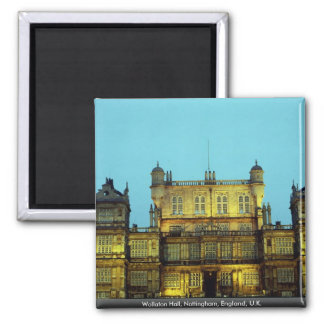 Wollaton Hall, Nottingham, England, U.K. 2 Inch Square Magnet