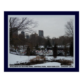 Wollman Ice Skating Rink, Central Park NYC  Poster