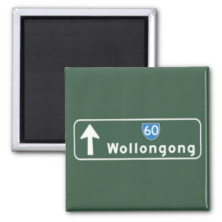 Wollongong, Australia Road Sign Refrigerator Magnets