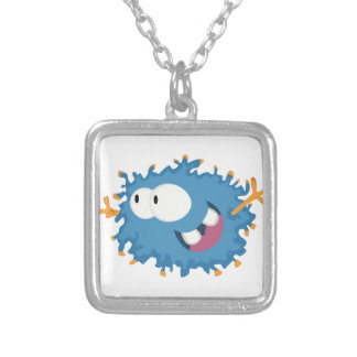 Wolly from Monster series Silver Plated Necklace