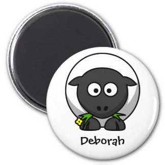 Wolly sheep 2 inch round magnet