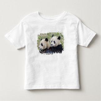Wolong Reserve, China, Giant panda hugging Toddler T-shirt