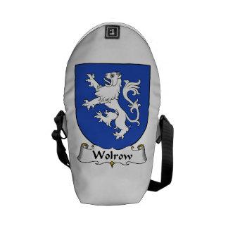 Wolrow Family Crest Messenger Bags
