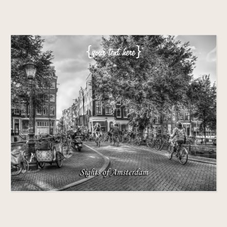 Wolvenstraat Singel Bridge, Sights of Amsterdam Postcard