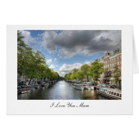 Wolvenstraat / Singel Canal - I Love You Mum Card