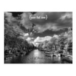 Wolvenstraat / Singel Canal, Sights of Amsterdam Postcard