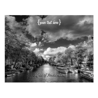 Wolvenstraat / Singel Canal, Sights of Amsterdam Postcard