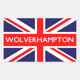 Wolverhampton: Bandera británica Pegatina Rectangular