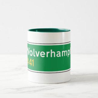 Wolverhampton UK Road Sign Coffee Mug