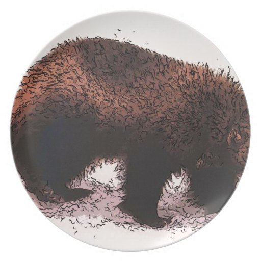 Wolverine camina en slope.jpg nevoso platos para fiestas