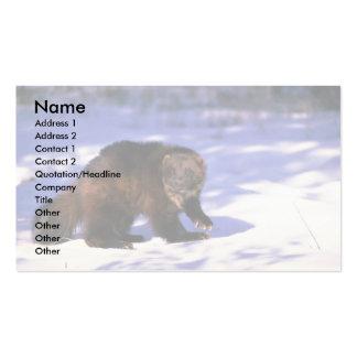 Wolverine en nieve plantilla de tarjeta personal