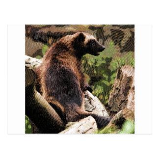 Wolverine grabado postal