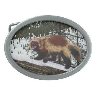 Wolverine Oval Belt Buckle