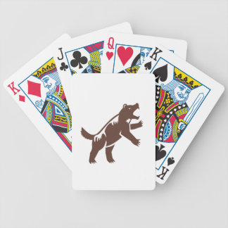 Wolverine Standing Hind Legs Retro Bicycle Playing Cards
