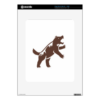 Wolverine Standing Hind Legs Retro Decal For The iPad