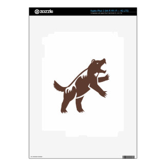 Wolverine Standing Hind Legs Retro Decals For iPad 3