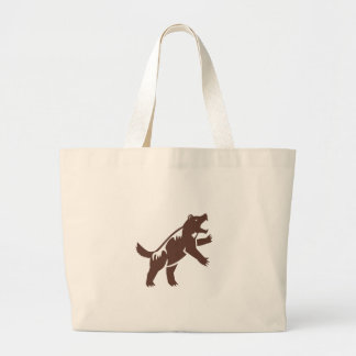 Wolverine Standing Hind Legs Retro Large Tote Bag