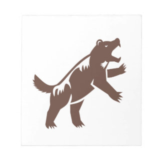 Wolverine Standing Hind Legs Retro Notepad