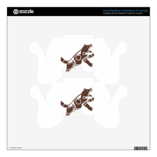 Wolverine Standing Hind Legs Retro PS3 Controller Decal