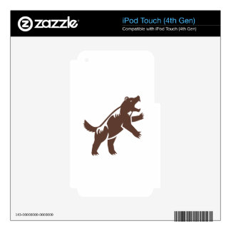 Wolverine Standing Hind Legs Retro Skin For iPod Touch 4G