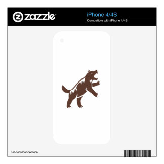 Wolverine Standing Hind Legs Retro Skins For iPhone 4