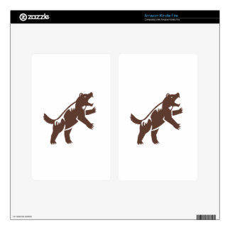 Wolverine Standing Hind Legs Retro Skins For Kindle Fire
