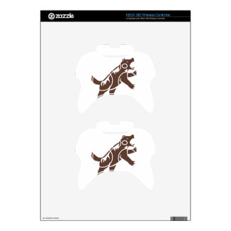 Wolverine Standing Hind Legs Retro Xbox 360 Controller Decal