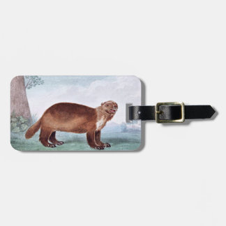 Wolverine vintage art luggage tag