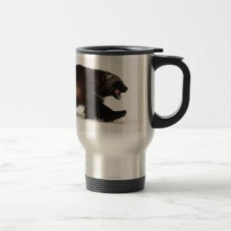 Wolverine walking 15 oz stainless steel travel mug