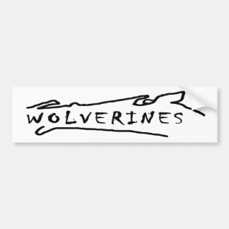 wolverines bumper sticker