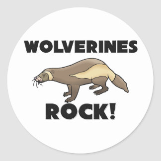 Wolverines Rock Classic Round Sticker