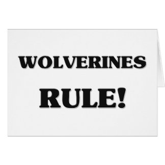 Wolverines Rule Greeting Card