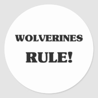 Wolverines Rule Classic Round Sticker