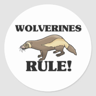 WOLVERINES Rule! Classic Round Sticker