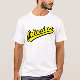Wolverines script logo in gold T-Shirt