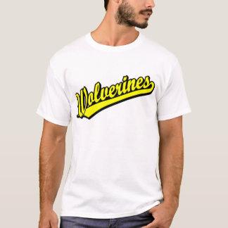 Wolverines script logo in gold T-Shirt