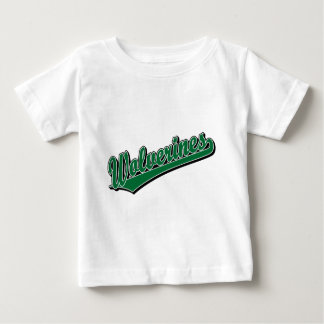 Wolverines script logo in green baby T-Shirt