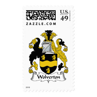 Wolverton Family Crest Postage Stamp