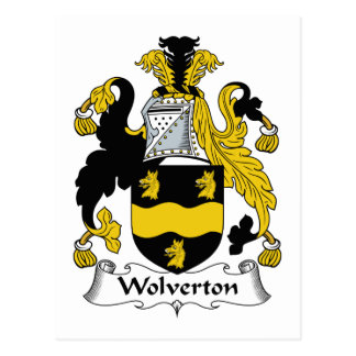 Wolverton Family Crest Post Cards