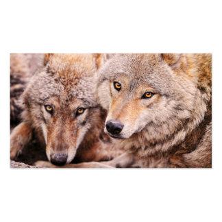 Wolves - 2012 pocket calendar business card