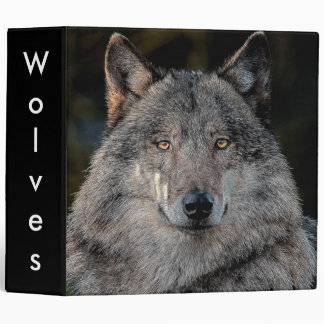 wolves 3 ring binder