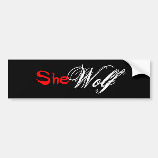 Wolves are for Girls Bumper Sticker