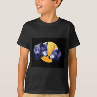 Wolves at full moon T-Shirt