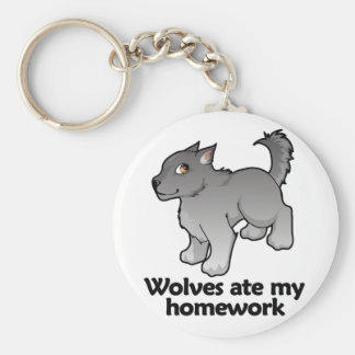Wolves ate my homework keychain
