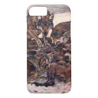 Wolves by Winifred Austen, Vintage Wild Animals iPhone 7 Case
