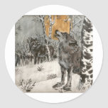 wolves classic round sticker