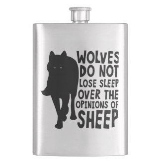 Wolves Do Not Lose Sleep Over Sheep Flask