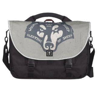 Wolves Don t Lose Sleep Laptop Messenger Bag
