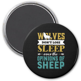 Wolves Don't Lose Sleep Over Opinion Of Sheep Magnet